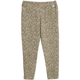 Wheat - Soft Pants Abbie, green flowers