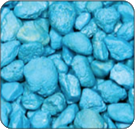 Heavenly Blue Colored Gravel