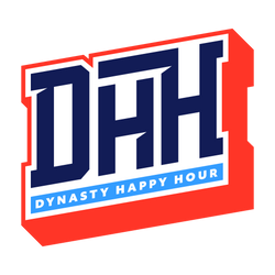 Fantasy Football Analysis by Dynasty Happy Hour Podcast Logo -Season Long, Dynasty, Best Ball, DFS Fantasy Football