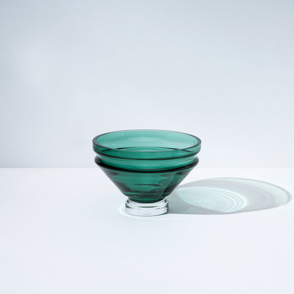 raawii Relæ - Small Glass Bowl Bowl Bristol Green