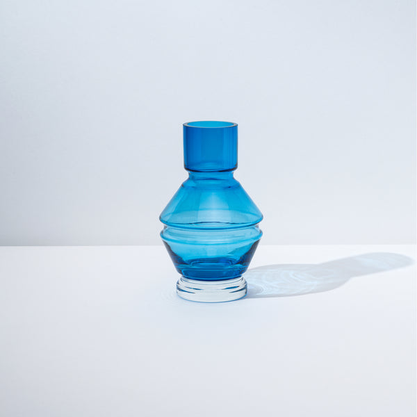 raawii Relæ - Small Glass Vase Vase Aquamarine Blue
