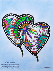Free Valentine's Day Coloring Page from Color It Yours