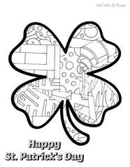 Free Color It Yours St. Patrick's Day Coloring Page