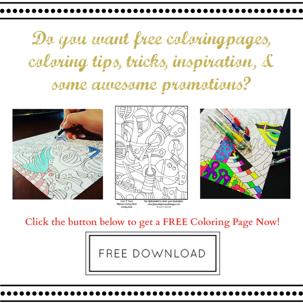 Email Sign Up - Free Coloring Page, Coloring Tips, Tricks, & Inspiration - Promotions