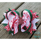 Gingerbread Man Christmas Hair Bow
