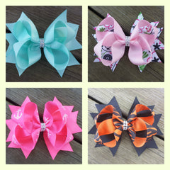Boutique Bows with Bling Center