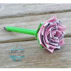 Duct Tape Flower Pen