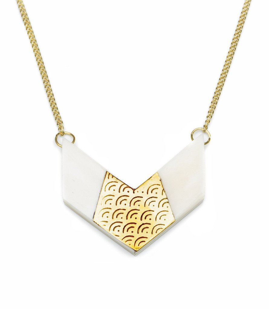 Anika Chevron Necklace - Matr Boomie (Jewelry)