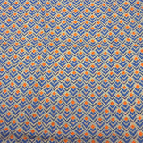 Blue and Orange Geometric Cotton Scarf - Asha Handicrafts