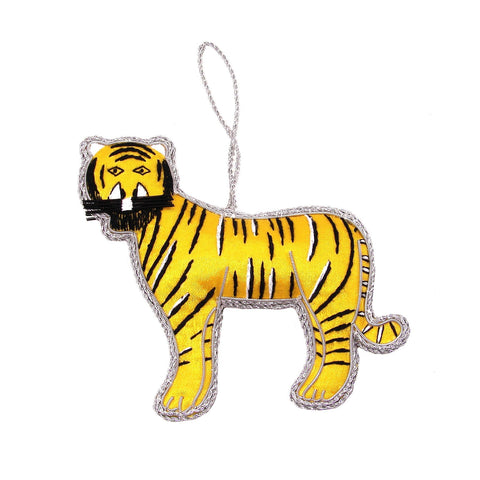 Yellow Tiger Holiday Ornament - WorldFinds (H)