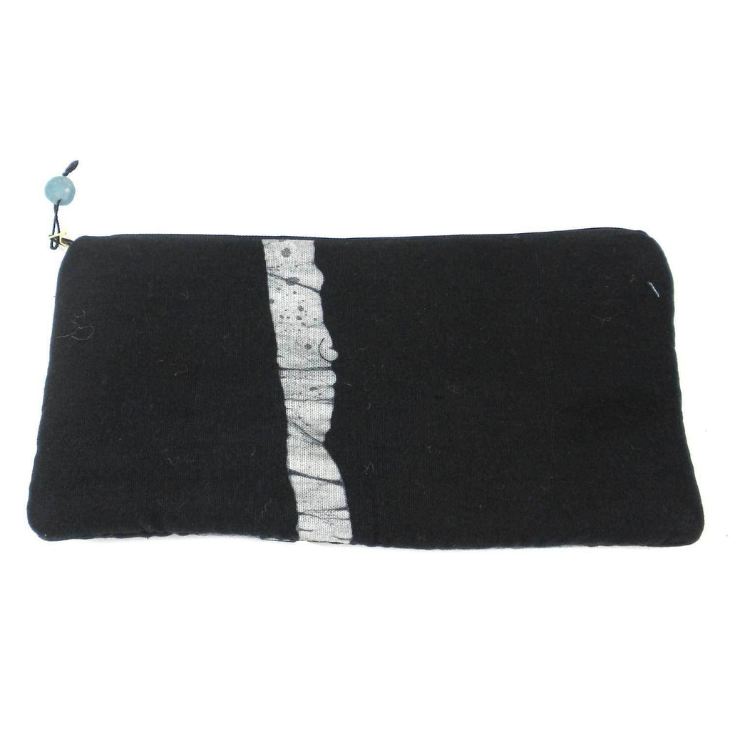 Batiked Clutch Purse - Black - World Peaces (P)