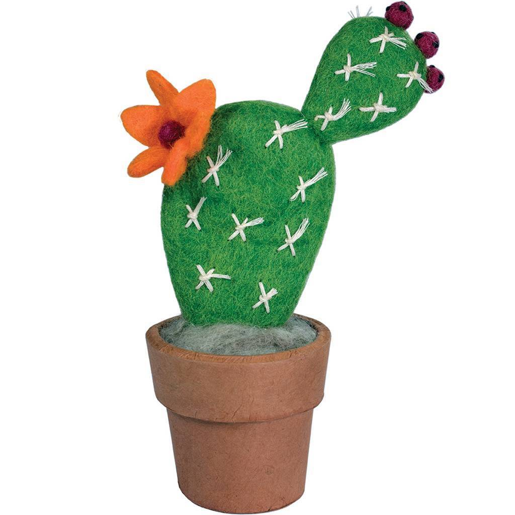 Felt Small Prickly Pear Catcus - Wild Woolies (G)