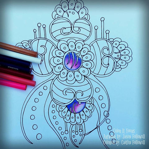 PRE-ORDER - Color It Yours: Henna Inspired Designs Coloring Book (Volume 1) - FREE SHIPPING