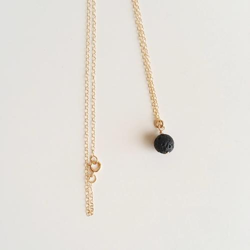 Lava Bead Minimalist Gold Filled Necklace