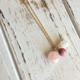 Love & Fertility Necklace ~ Moonstone, Rhodonite, and Rose Quartz