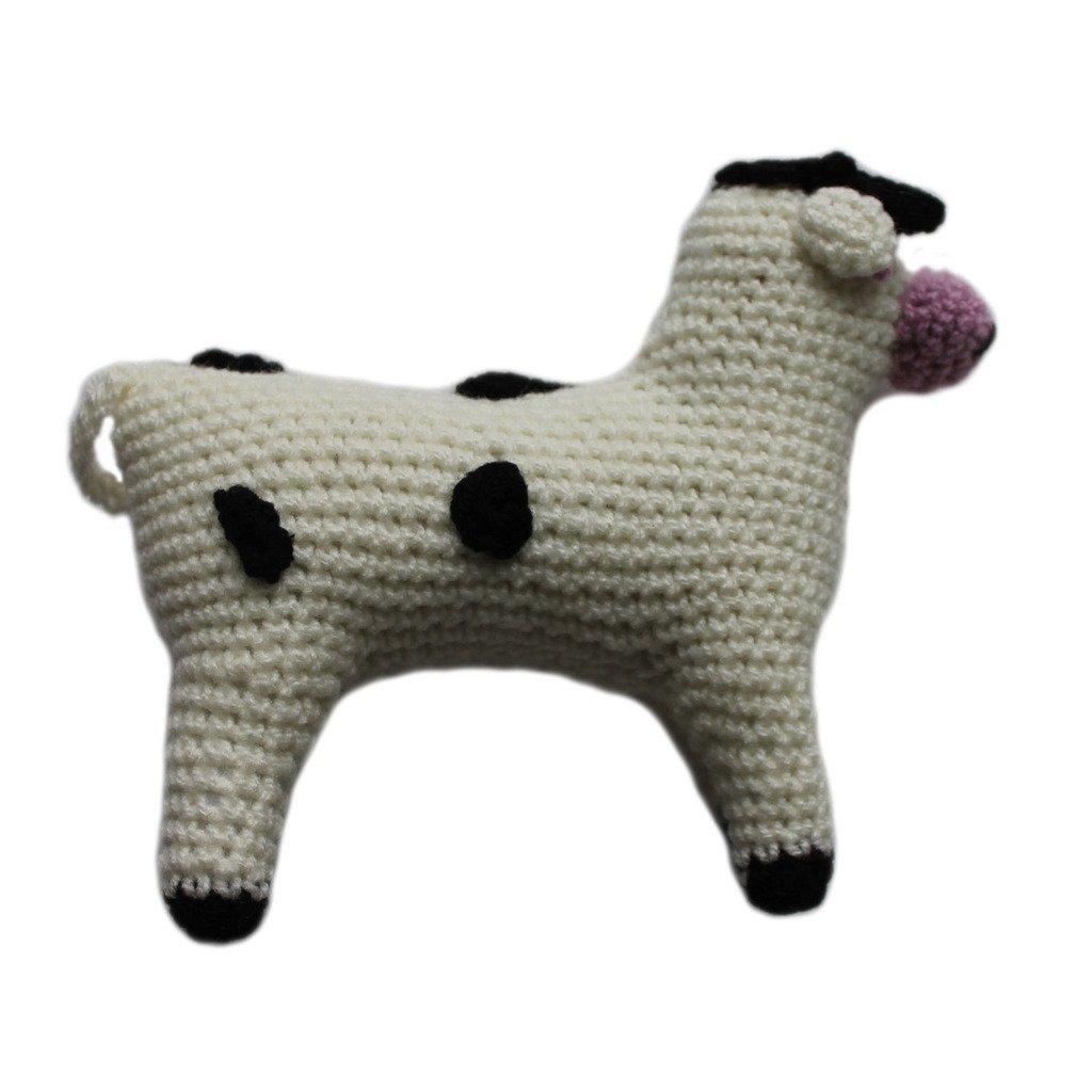 Knit Rattle Cow - Silk Road Bazaar