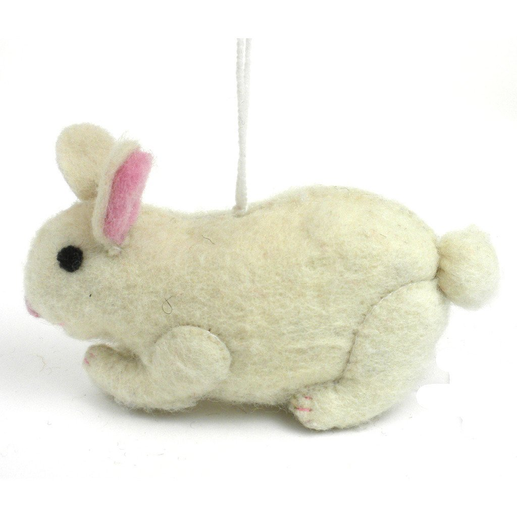 Felt Rabbit Ornament - Silk Road Bazaar (O)
