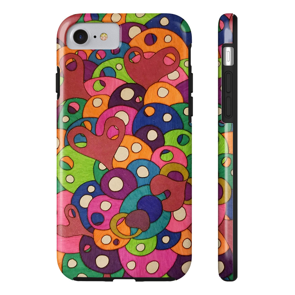 Color It Yours: Abstract Tough iPhone 7 (Design #49CF)