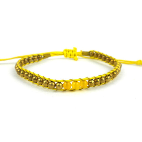 3rd Chakra Bracelet - Yellow - Global Groove (J)