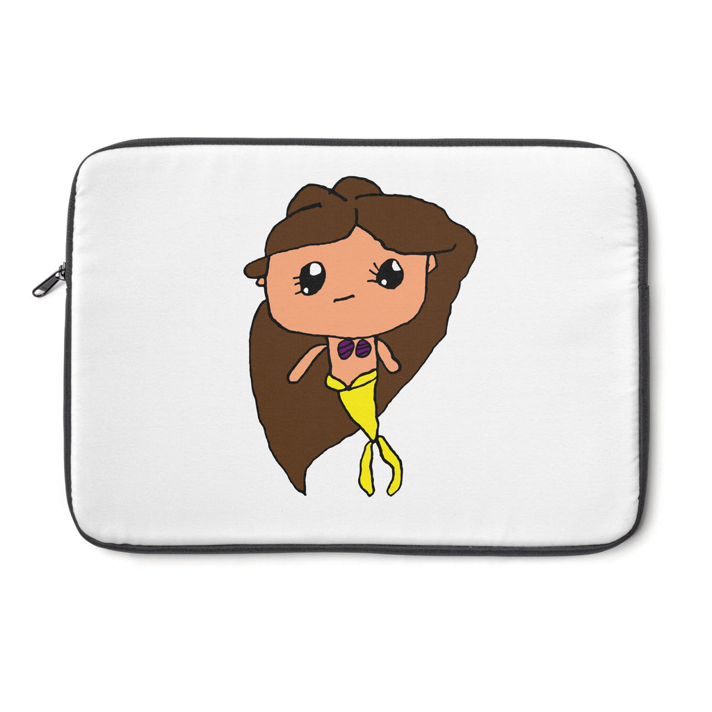 Kendrick's Kreations Mermaid Laptop Sleeve (Brown Hair)