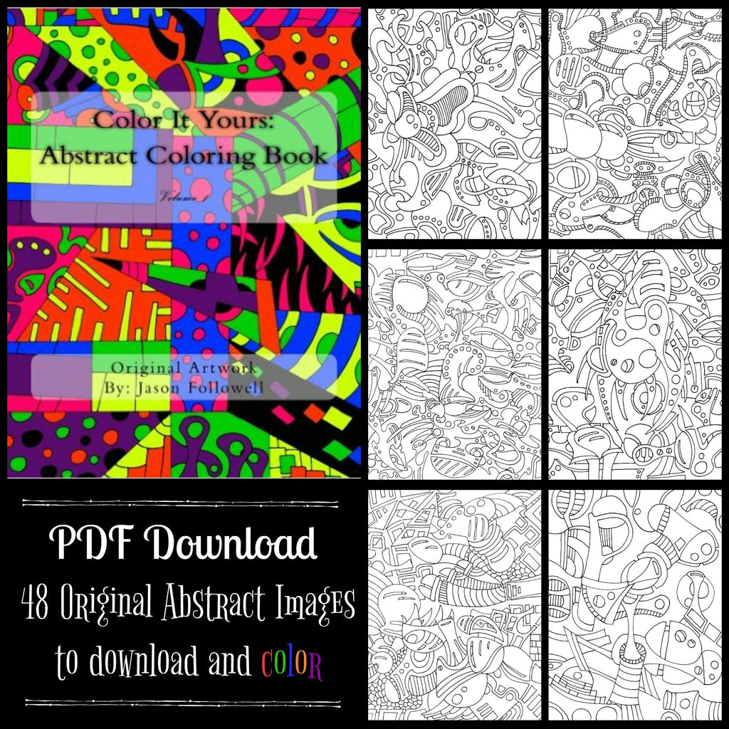 PDF DOWNLOAD - Color It Yours: Abstract Coloring Book Volume 1 ...