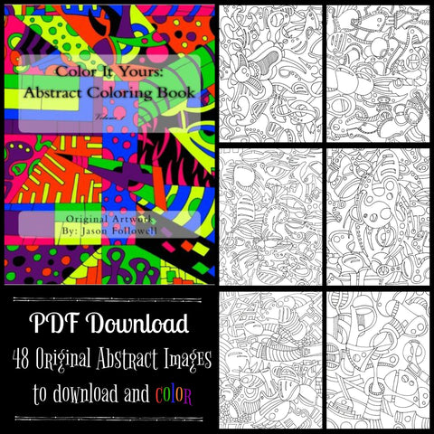 PDF DOWNLOAD - Color It Yours: Abstract Coloring Book Volume 1