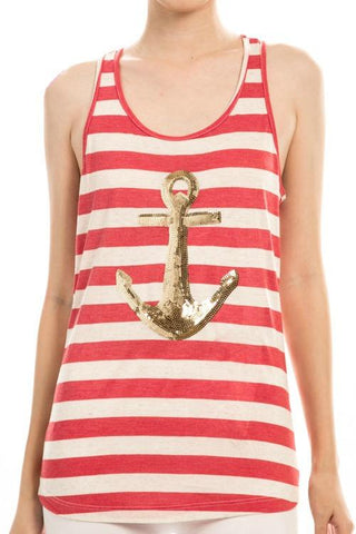 Sequin Anchor Tank