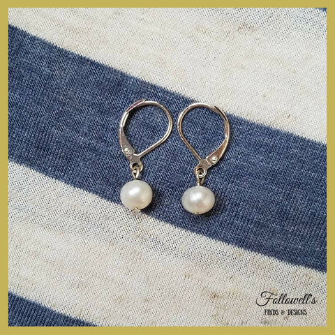 Silver-Plated Pearl Earrings