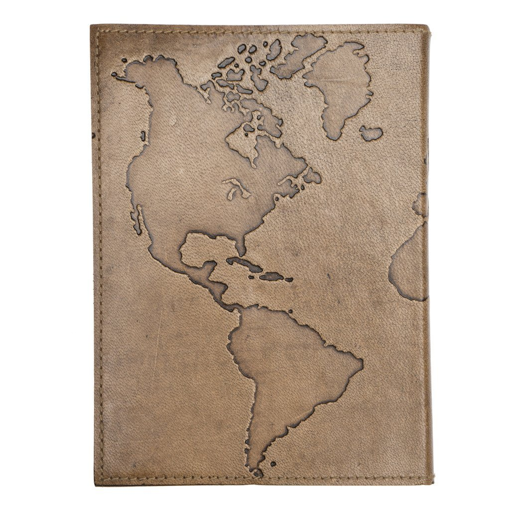 Ancient Globetrotter Leather Journal - Matr Boomie (J)