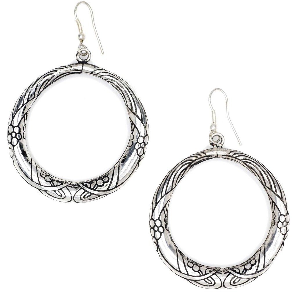 Selene Hoop Earrings - Silver - Matr Boomie (Jewelry)
