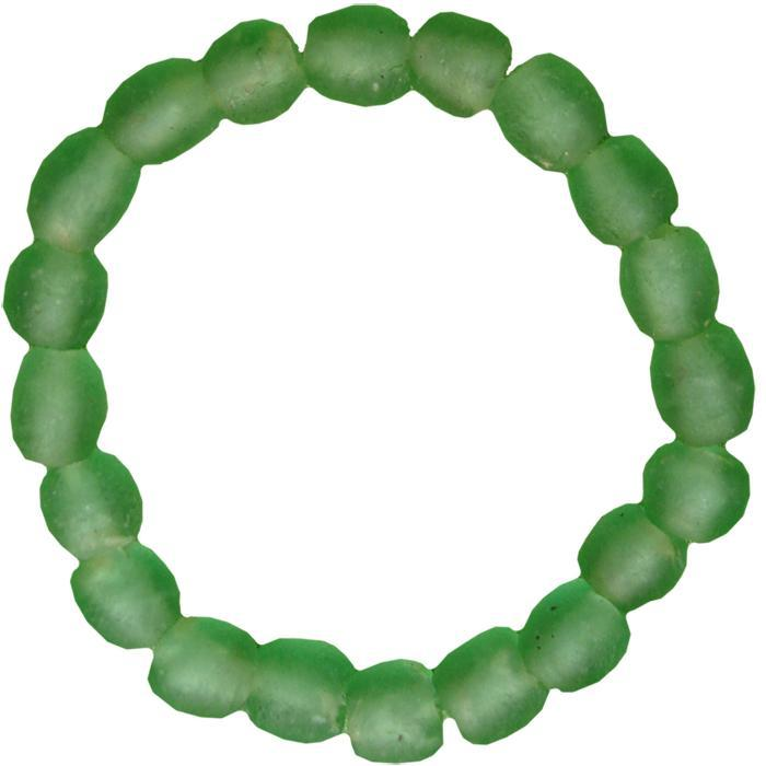 Global Mamas Glass Pearls Bracelet Moss - Global Mamas