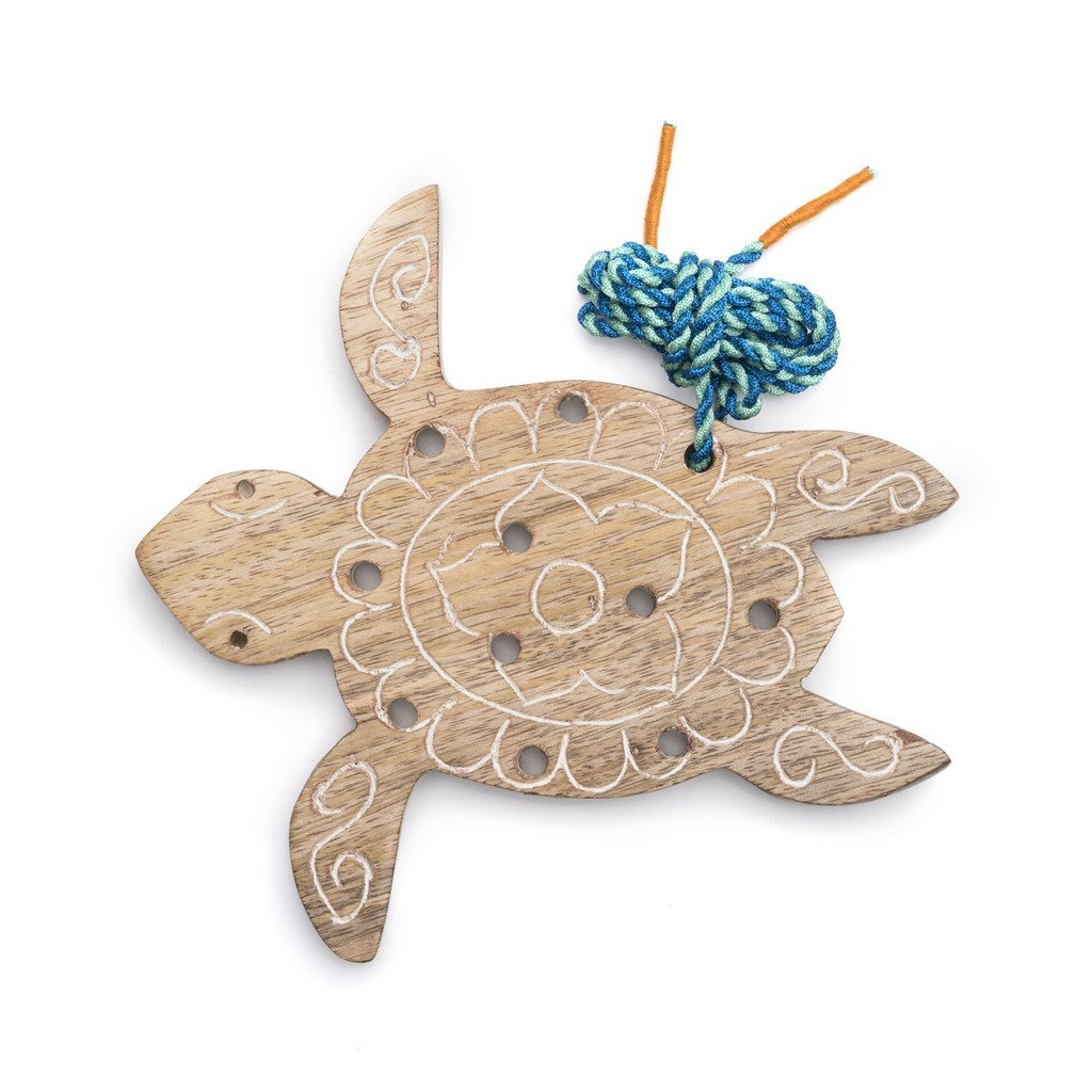 Wood Turtle Lacing Toy - Matr Boomie