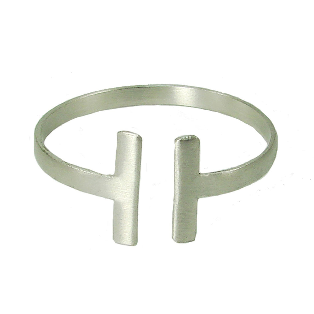 Perpendicular Cuff - silver - WorldFinds