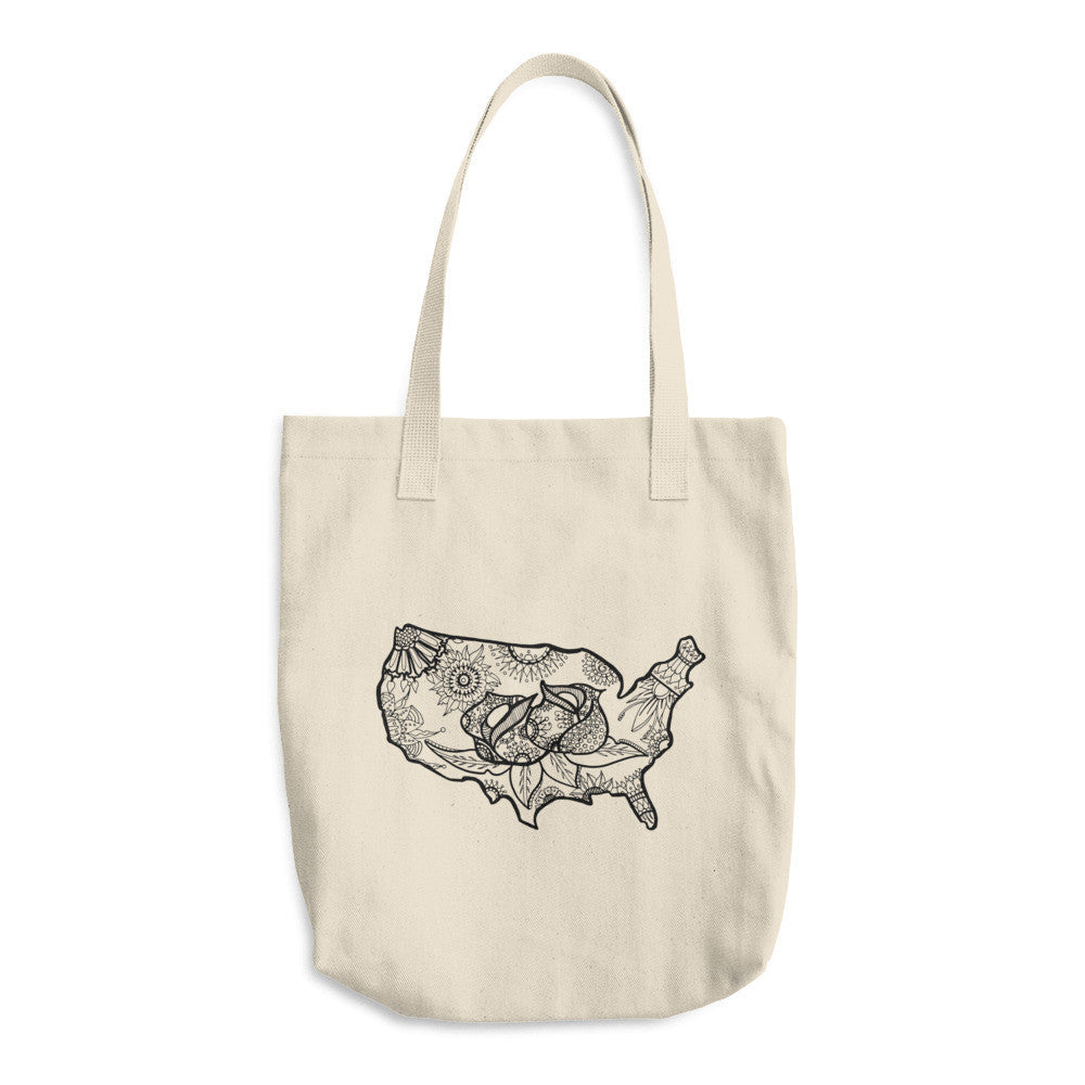 Color It Yours: USA Cotton Tote Bag