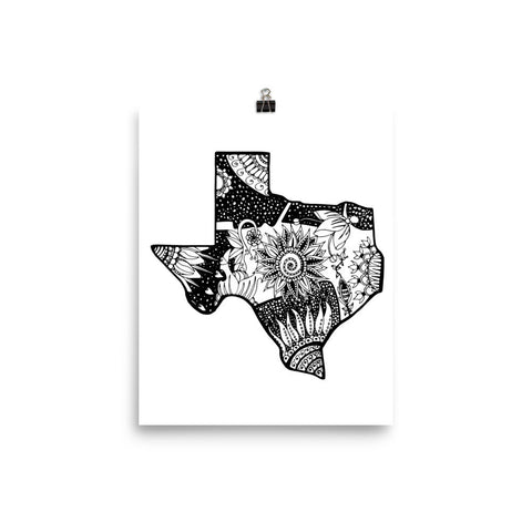 Color It Yours: Texas Poster