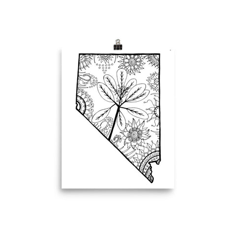 Color It Yours: Nevada Poster