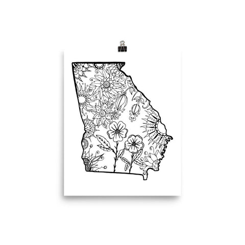 Color It Yours: Georgia Poster
