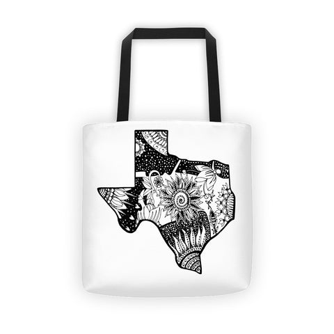 Color It Yours Floral Texas Tote bag