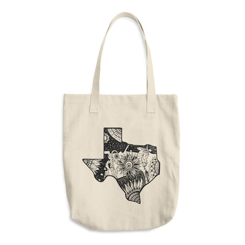 Color It Yours: Texas Cotton Tote Bag