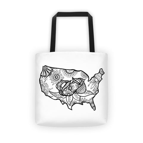 Color It Yours: USA Tote bag