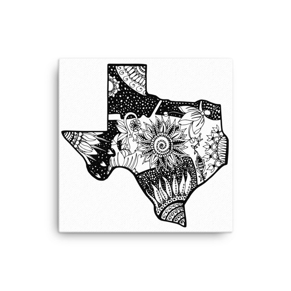 Floral Texas Canvas