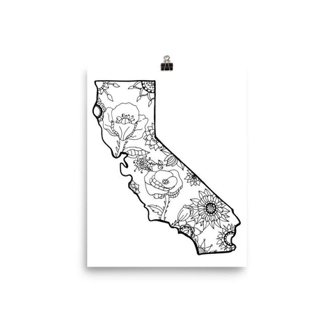 Color It Yours: California Poster