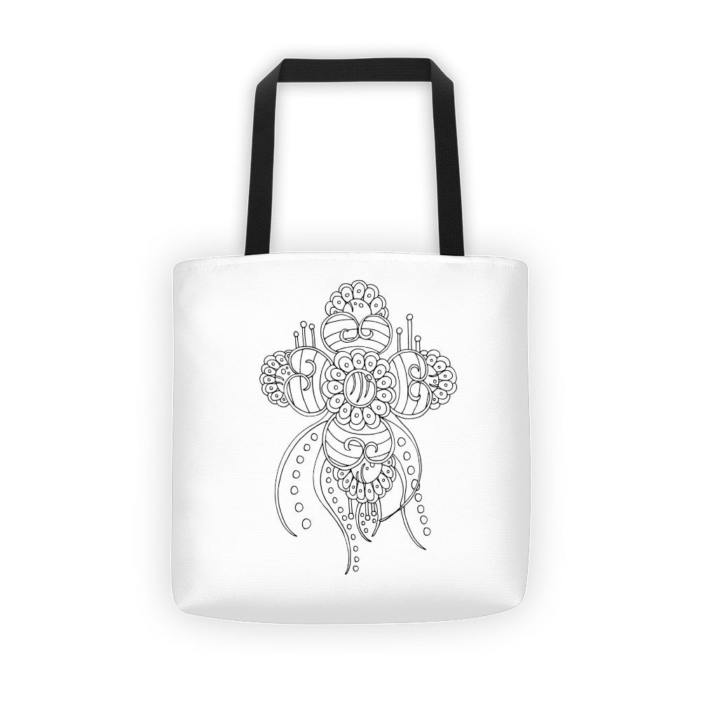 Color It Yours: Henna Inspired Tote Bag (Design #31)