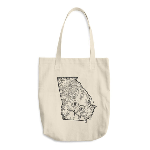 Color It Yours: Georgia Cotton Tote Bag