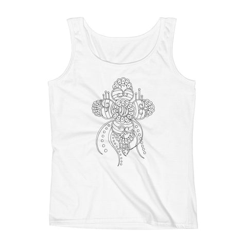Color It Yours: Henna Inspired Ladies' Tank (Design #31)
