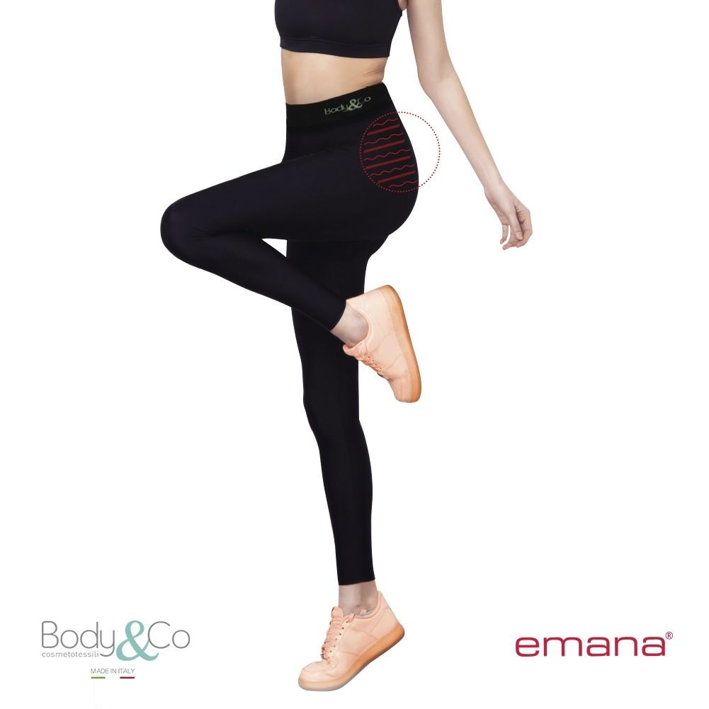 Legging sportivo push-up con fibra emana mantiene-tonifica - curaebenessere.it