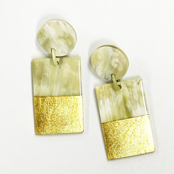Gold + Horn Earrings by Sunshine Tienda