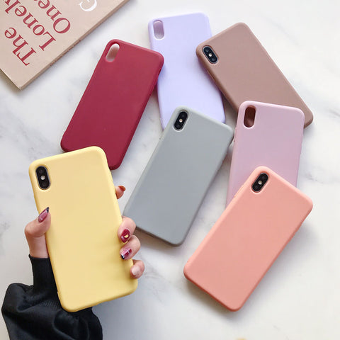 Siliconen Multicolor Case voor iPhone-serie