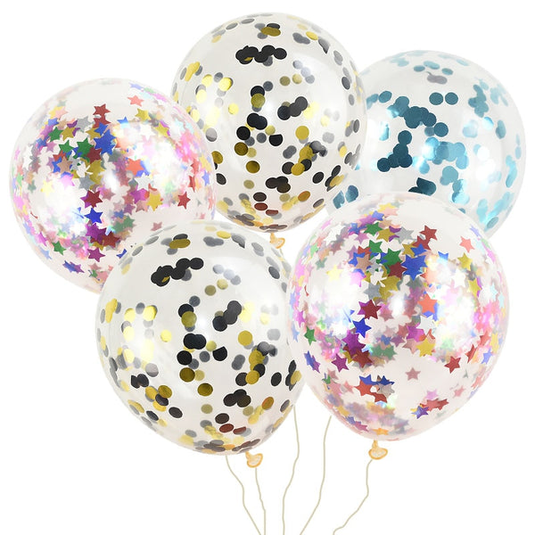 10PCS Confetti Latex Balloons
