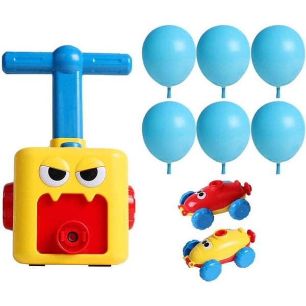 Education Science Experiment Toy Inertial Power Balloon Car Toy Puzzle Fun Inertial Power Car Balloon Toys for Children Gift